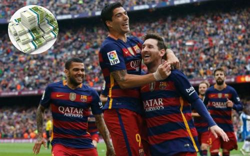 Barca nhận 2 chức vô địch và kiếm được doanh thu khổng lồ