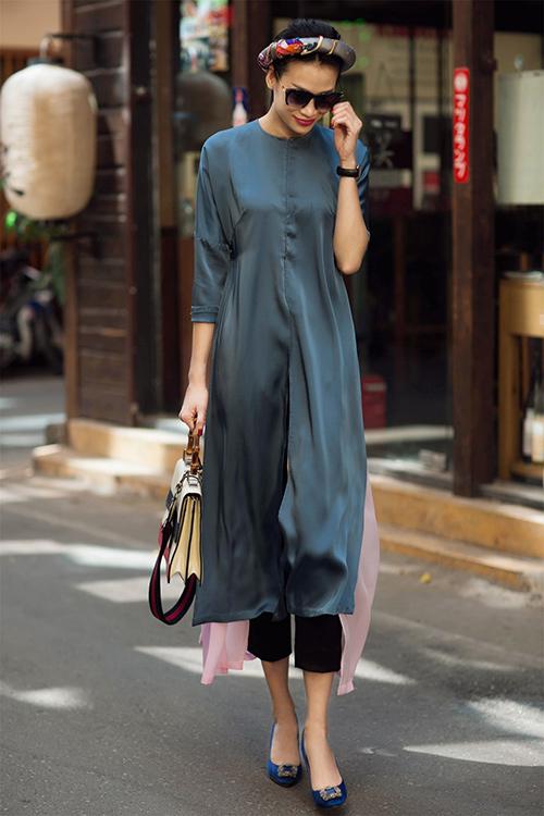 Những cách mặc áo dài cách tân