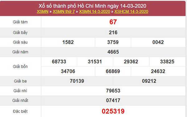 Dự đoán KQXS Hồ Chí Minh 16/3/2020 - Soi cầu XSHCM thứ 2