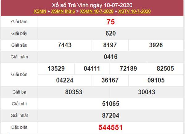 Soi cầu XSTV 17/7/2020 chốt lô số đẹp Trà Vinh thứ 6