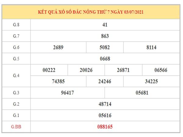 Nhận định KQXSDNO ngày 10/7/2021 dựa trên kết quả kì trước